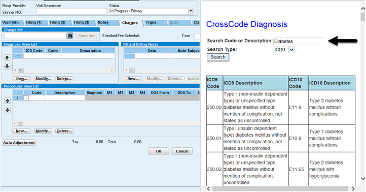 Searching ICD-9 to ICD-10 by Partial Description