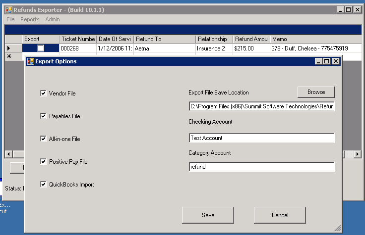 REFUNDS EXPORTER - Summit Software Technologies, LLC
